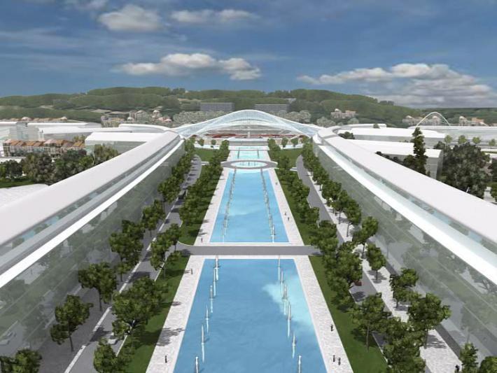 Projet Calatrava - Perspective face à la gare - 2006